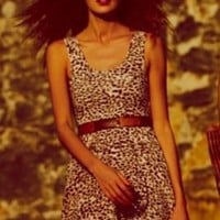 Lady In Leopard Dress at Free People Clothing Boutique