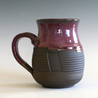 Pottery Coffee Mug, 16 oz, handmade ceramic cup, handthrown mug, ceramic stoneware pottery mug unique coffee mug ceramics and pottery