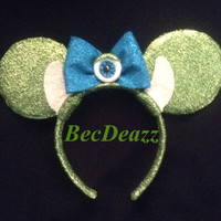 Monsters Inc. Mike Wazowski Minnie Mouse Ears headband