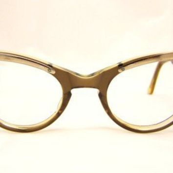 l Vintage Eyeglasses 1950s Horn Rimmed Catseye by ifoundgallery11