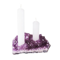 Amethyst Double Candle Holder