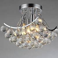 Bowl Crystal Chandelier