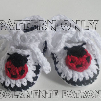 Ladybug Baby Booties PDF Pattern / Crochet Infant Shoe Pattern