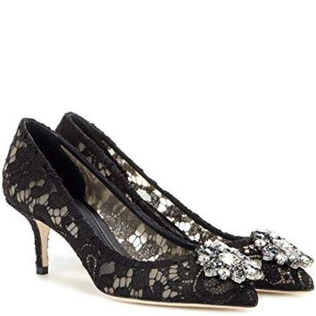 Dolce & Gabbana Women's Fashion Pumps Black EU 38,5 (8,5 B(M) US)