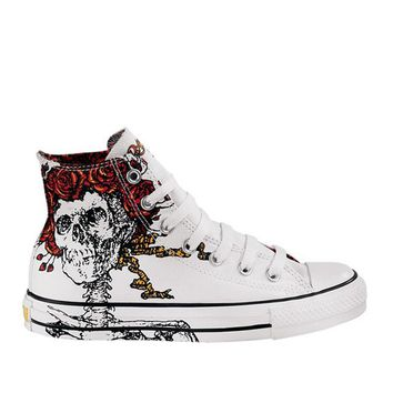 Converse Chuck Taylor- White High-Top Grateful Dead Sneaker