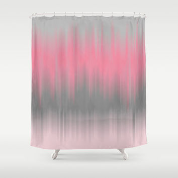 pink grey shower curtain. Dip Dye  Soft Pink and Grey Shower Curtain by Kat Mun Best Curtains With Products on Wanelo