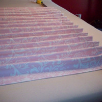 "Custom Drapery Panels/ 2 panels- 84"", 96"",108""-  1 pair of Window Curtains in a Pink & white Damask/ L.Room, Sun-room, B.room"