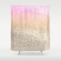 GOLD PINK Shower Curtain by Monika Strigel