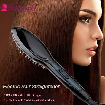 BellyLady Electric Hair Straightener Brush Hair Styling Hair Straightener Comb Auto Straightening Irons Simply Fast Hair Dryer