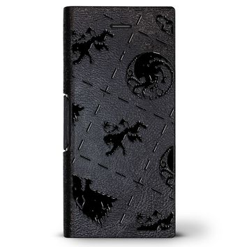 Thrones Symbols | Leather Series case for iPhone 8/7/6/6s in Hickory Black