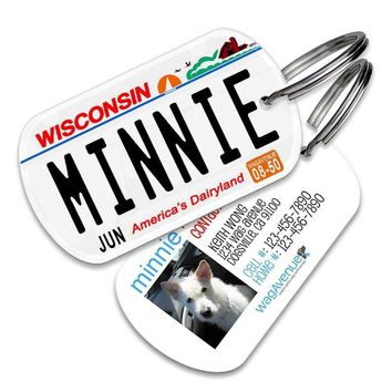 Wisconsin License Plate Pet Tag