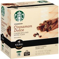 Starbucks Cinnamon Dolce Ground Coffee K-Cups, .35 oz, 16 ct - Walmart.com