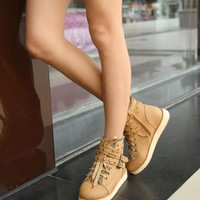 Discount China  New Korean Cross Belt Buckle Rivet Ankle Boot GQM-118-2BR [GQM-118-2BR] - US$16.93 : Fashion Ladies Shoes&Bags Wholesale Online at Egogog.com