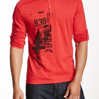 Seduka Seduka Repair Printed Long Sleeve Henley | Nordstrom Rack