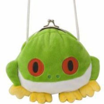 Green Tree Frog Clasp Purse 6""