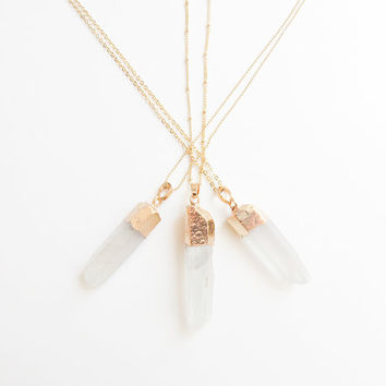 Rainbow Quartz Necklace | Rainbow Necklace | Quartz Necklace | Boho Necklace | Layering Necklace