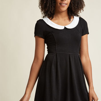 Record Time A-Line Dress in Black