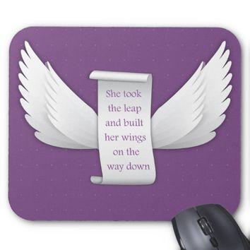 Wings of Love Inspirational Quote Mouse Pad