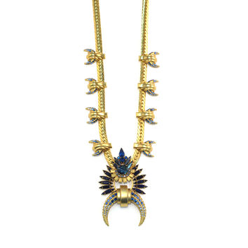 Saeger Necklace, Blue
