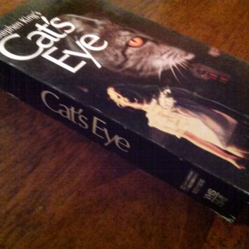 Cats Eye VHS Tape Stephen King Drew Barrymore Horror Thriller Humor Occult Cult Video