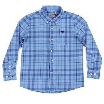Youth Boundary Washed Plaid Dress Shirt by Southern Marsh