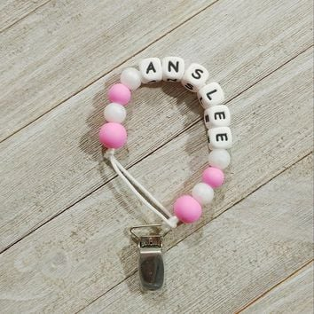 Name / Letter Pacifier Clip