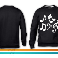 Music notes 1 crewneck sweatshirt