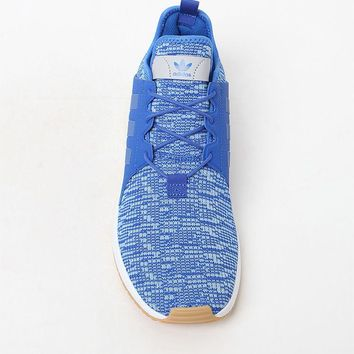 adidas X_ PLR Knit Blue and Gum Shoes at PacSun.com