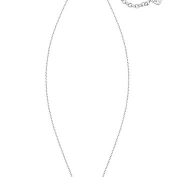 KENDRA SCOTT - Elisa Silver Pendant Necklace In Iridescent Drusy