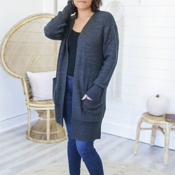 On The Hearth Cardigan - Charcoal