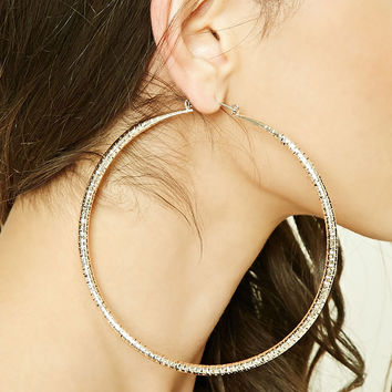 Oversized Etched Hoop Earrings