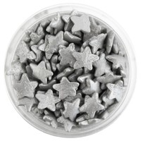 Metallic Silver Star Sprinkles
