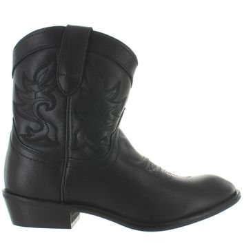 Dingo Willie - Black Leather Short Cowboy boot