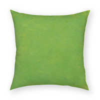 """Solid Tropical Green 18""""x18"""" Artistic Throw Pillow"""