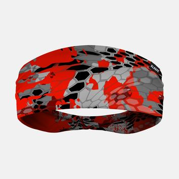 Incognito Red Dart Camo Headband