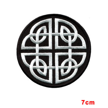 Celtic knot Irish goth biker tattoo wicca magic applique iron-on patch new
