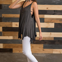 Oh Me Oh My Strappy Top (Black)
