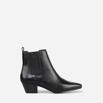 Leather Chelsea Boots -Black - Shoes | CHARLES & KEITH