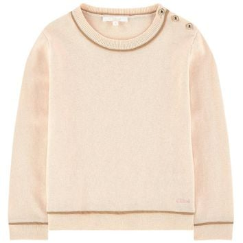 Chloe Girls Soft Pink Wool Sweater (Mini-Me)