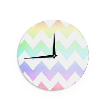 "Catherine McDonald ""Water Color"" Chevron Wall Clock"