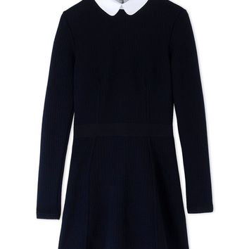 Maison Kitsuné Dark Blue Fitted Shirt Dress - Dark Blue Fitted Shirt Dress