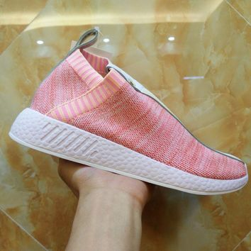 Adidas x Naked x Kith NMD PK CS2 Primeknit BY2596 Pink Sport Running Shoes Classic Casual Shoes Sneakers-1
