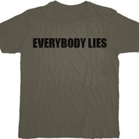 House M.D. Everybody Lies Charcoal T-shirt  - House - | TV Store Online