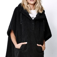 Obey Waterloo Poncho - Womens Jacket - Black - Extra Small/Small