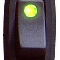 Keep It Clean SW29G Green 16 Amp/12V Illuminated Rocker Switch 3 with LED