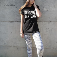 Teenage Dirtbag tshirt Weathus song One Direction shirt  in black  gray t shirt 1D tumblr crewneck XS-XXL