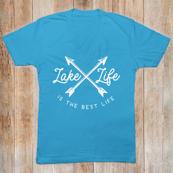 Lake Life V-Neck Tee - Boho Shirt