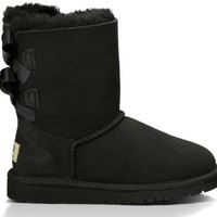 UGG Australia Girls Bailey Bow Boots Black Size 6