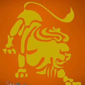 Vinyl Wall Decal Sticker Leo Zodiac Sign #433