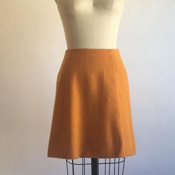 1960s 1970s Vintage Wool Blend Mini Skirt by Pandora Costume Maker